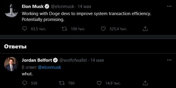 Твиттер сообщение Илон Маск