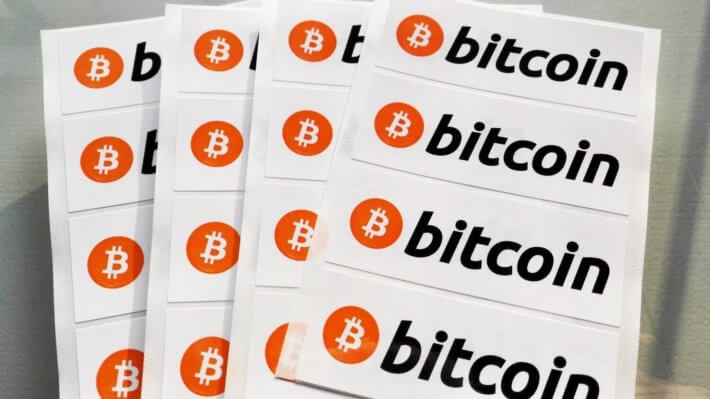 биткоин логотип наклейки