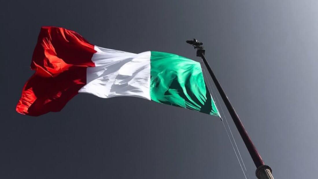 Италия флаг Европа