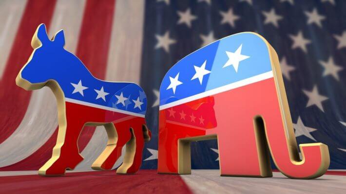 США партии политика Конгресс