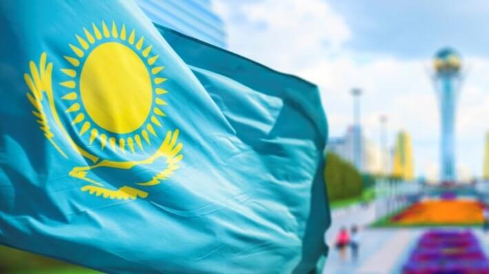 Казахстан флаг Биткоин