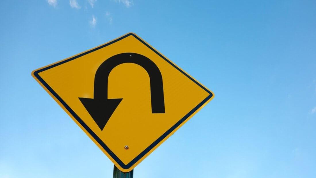 поворот знак дорога