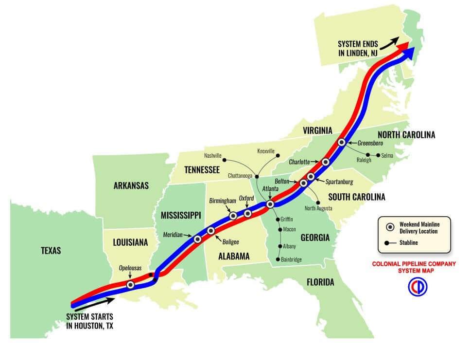 Colonial Pipeline США хакеры