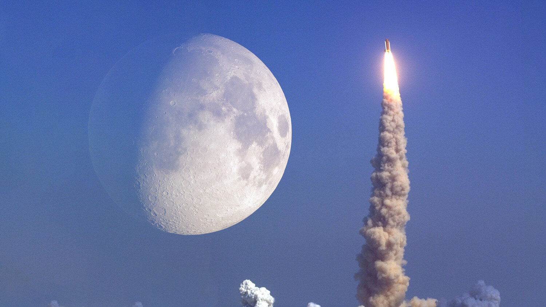 Рост ракета Луна полет