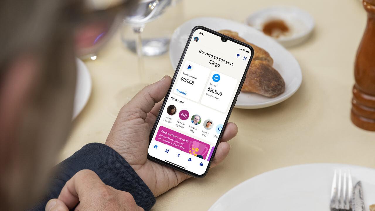 PayPal приложение инвестиции смартфон