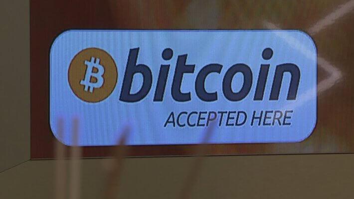 Биткоин криптовалюта вывеска