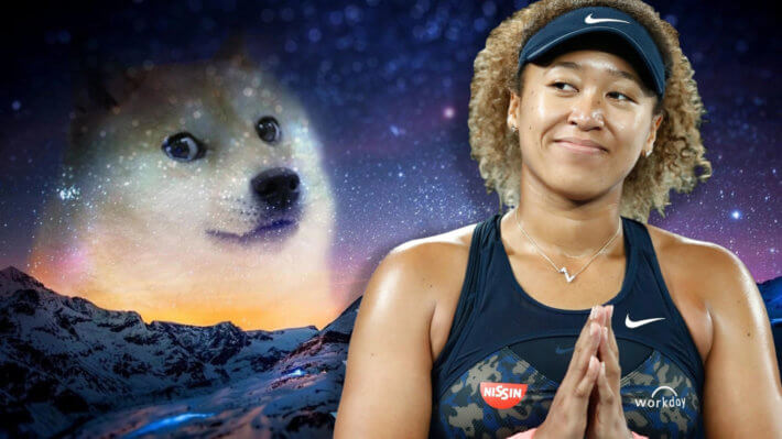 Наоми Осака теннис Dogecoin
